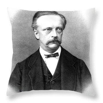Hermann Von Helmholtz, German Physician Throw Pillow