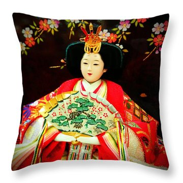 Hina Doll Throw Pillow