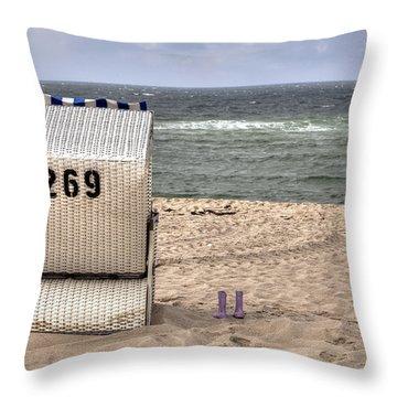 Hoernum - Sylt Throw Pillow by Joana Kruse