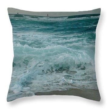 Hookipa Throw Pillow by Sharon Mau