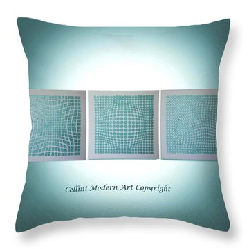 3 Illusions Throw Pillow by Dolores  Deal