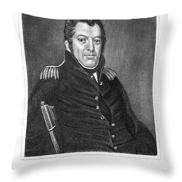 Jacob Jennings Brown Throw Pillow by Granger