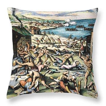 Jamestown: Massacre, 1622 Throw Pillow by Granger
