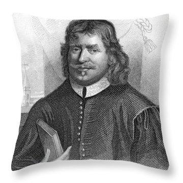 John Bunyan (1628-1688) Throw Pillow by Granger
