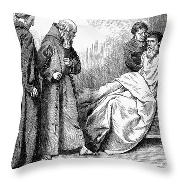 John Wycliffe (1320?-1384) Throw Pillow by Granger