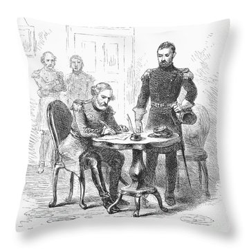 Lees Surrender, 1865 Throw Pillow by Granger