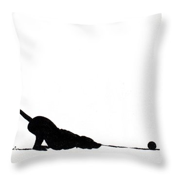 Little Dogs Doing Tricks On Little Canvas Throw Pillow by Cindy D Chinn