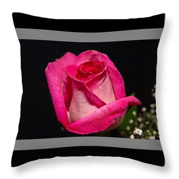 3 Little Roses Throw Pillow