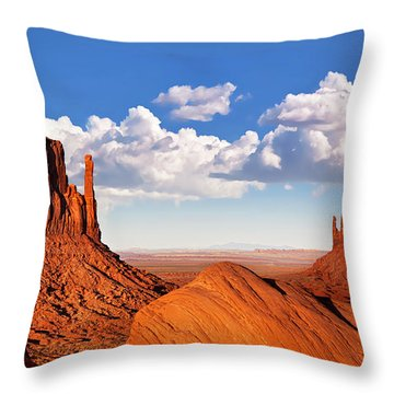 Monument Valley Throw Pillow by Jane Rix