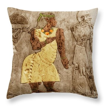 Muscular Dystrophy, Ancient Egypt Throw Pillow by Science Source