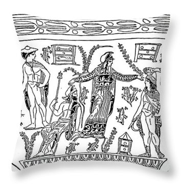 Mythology: Perseus Throw Pillow by Granger