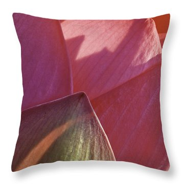 Nelumbo 'mrs. Perry Slocum' Throw Pillow by Perla Copernik