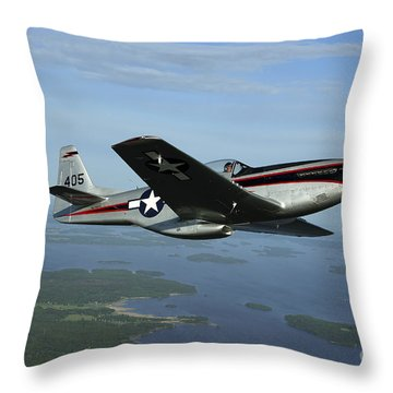 North American P-51 Cavalier Mustang Throw Pillow by Daniel Karlsson