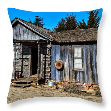 Old Cabin Throw Pillow by Doug Long