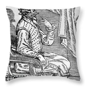 One Of Tagliacozzis Rhinoplasty Throw Pillow by Science Source