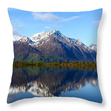 Pioneer Peak Throw Pillow