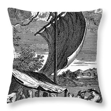 Pope: Rape Of The Lock Throw Pillow by Granger