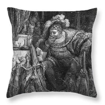 Rabelais: Pantagruel Throw Pillow by Granger
