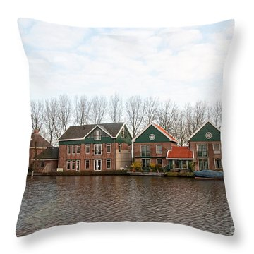 Throw Pillow featuring the digital art Scenes From Amsterdam by Carol Ailles