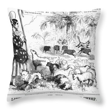 Secession Cartoon, 1861 Throw Pillow by Granger