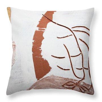 Senses - Tile Throw Pillow by Gloria Ssali