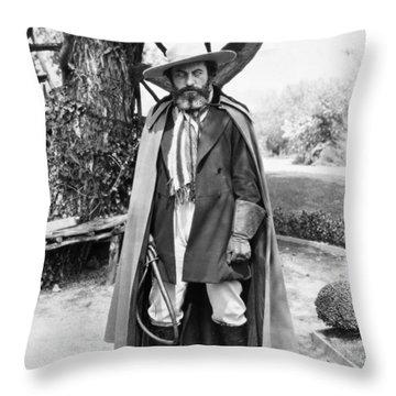 Silent Film Still: Beards Throw Pillow by Granger