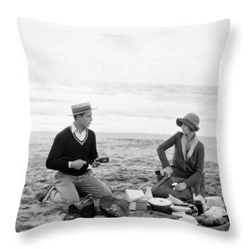 Silent Film Still: Picnic Throw Pillow by Granger