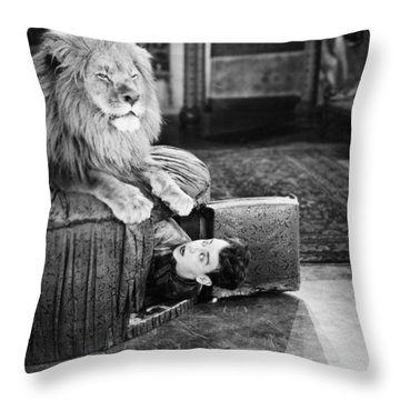 Silent Still: Man In Distress Throw Pillow by Granger