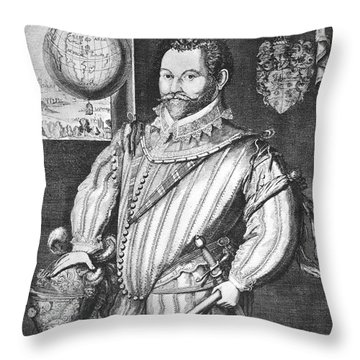 Sir Francis Drake (1540-1596) Throw Pillow by Granger