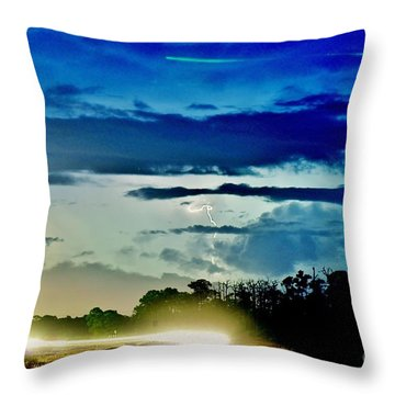 3 Streaks Throw Pillow by Don Youngclaus