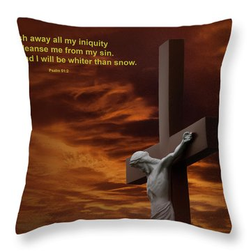 The Cross Throw Pillow by David Arment