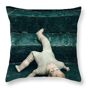 The Doll Throw Pillow by Joana Kruse