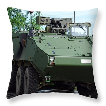The Piranha IIic Of The Belgian Army Throw Pillow by Luc De Jaeger