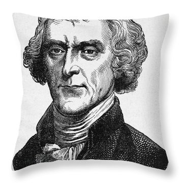 Thomas Jefferson Throw Pillow by Granger