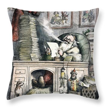 Thomas Nast: Santa Claus Throw Pillow by Granger
