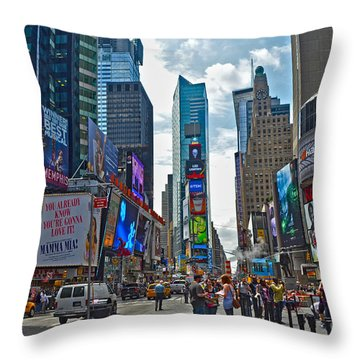 Times Square Throw Pillow by Pravine Chester