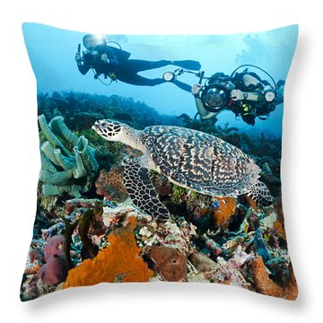 Underwater Photography Throw Pillow by Dave Fleetham - Printscapes