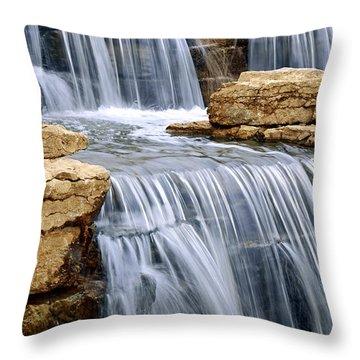Waterfall Throw Pillow by Elena Elisseeva