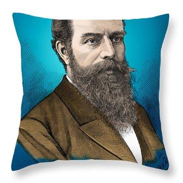 Wilhelm Roentgen, German Physicist Throw Pillow by Science Source