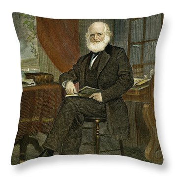 William Cullen Bryant Throw Pillow by Granger