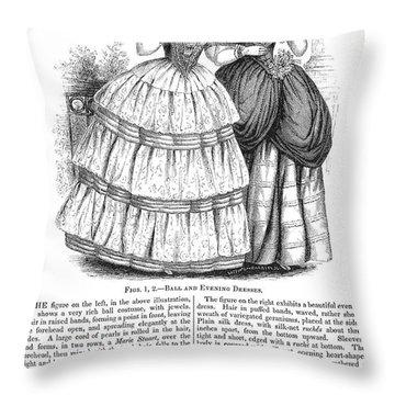Womens Fashion, 1851 Throw Pillow by Granger