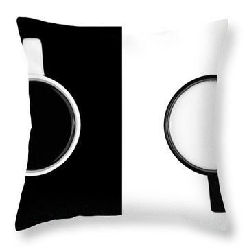 Throw Pillow featuring the photograph Yin And Yang by Gert Lavsen