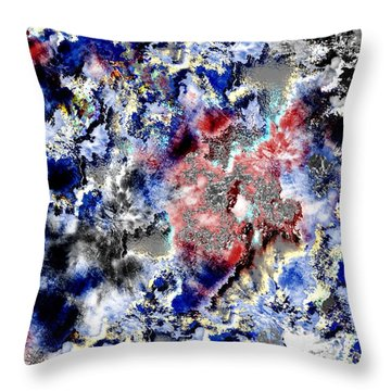 Throw Pillow featuring the painting 31 Days Later by Maciek Froncisz