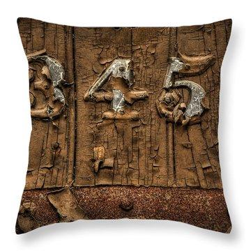 345 Throw Pillow by Evelina Kremsdorf