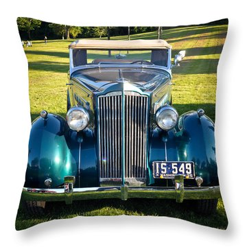 Throw Pillow featuring the photograph '35 Packard by Ronda Broatch