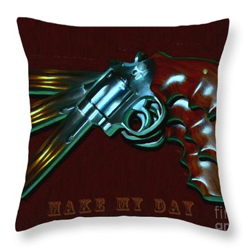 357 Magnum - Make My Day - Painterly Throw Pillow
