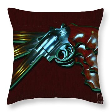 357 Magnum - Painterly Throw Pillow
