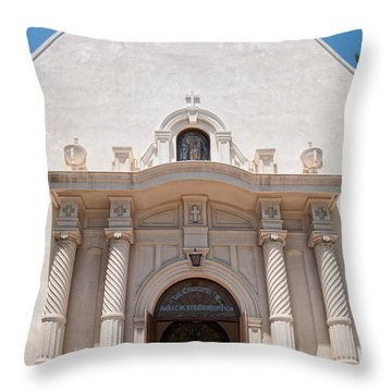 Old Town San Diego Throw Pillow by Carol Ailles