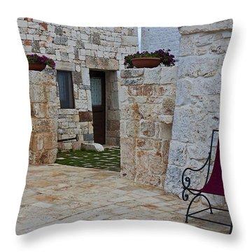 Alberobello - Apulia Throw Pillow by Joana Kruse