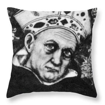 Albertus Magnus, Medieval Philosopher Throw Pillow by Science Source